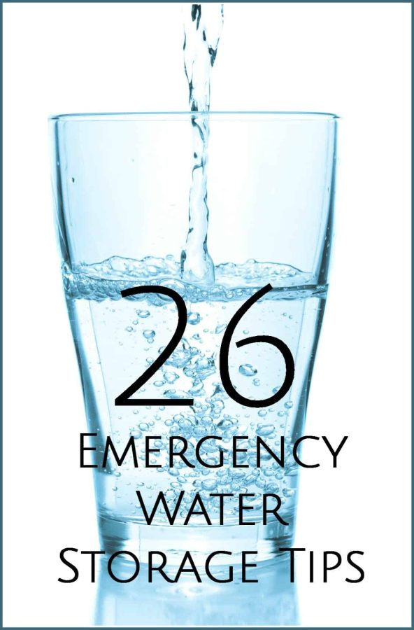 Emergency Water Storage Tips