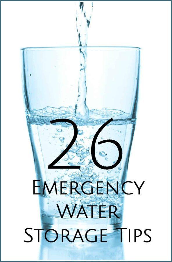 Emergency Water Storage Tips