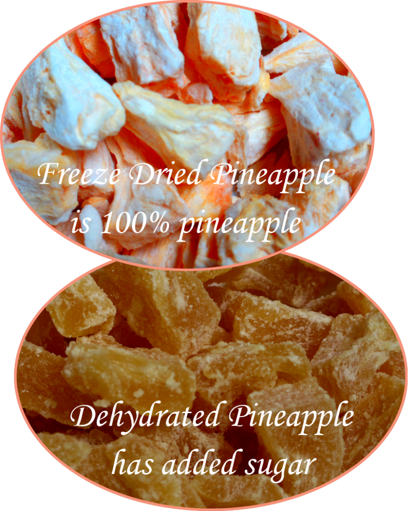 Freeze Dried vs Dehydrated Pineapple