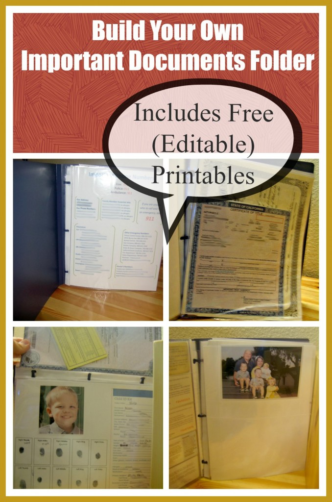 Having a binder of all your important documents can be helpful everyday and is essential in an emergency (especially and evacuation).  Use these free printables to create yours today!  (Includes tips on how to keep it safe)