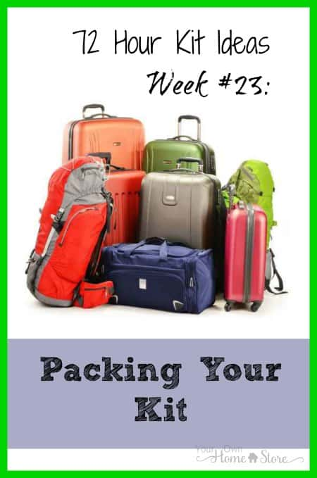 Most people do it backwards: they choose a pack for their 72 hour kit before they have their supplies. Find out why the opposite is better!