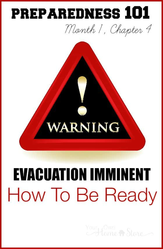 If you got a phone call today letting you know you had 10 minutes to evacuate, what you would grab? Where you'd go? Learn how to be ready for evacuation.
