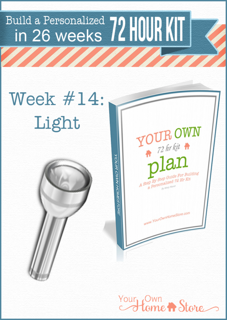 Week #14 in a step by step 72 hour kit series.  Makes building a robust, personalized 72 hour kit affordable and do-able!