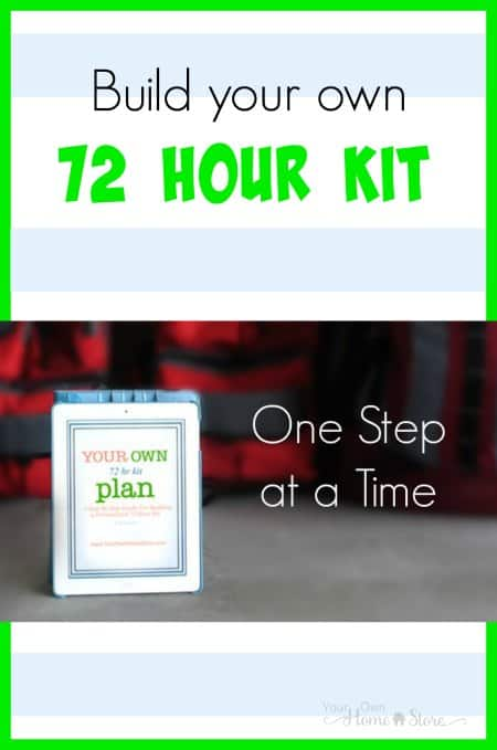 Build a 72 Hour Kit. Simplify the time, cost and effort required to pack a 72 hour kit for your family by breaking it down into manageable steps.