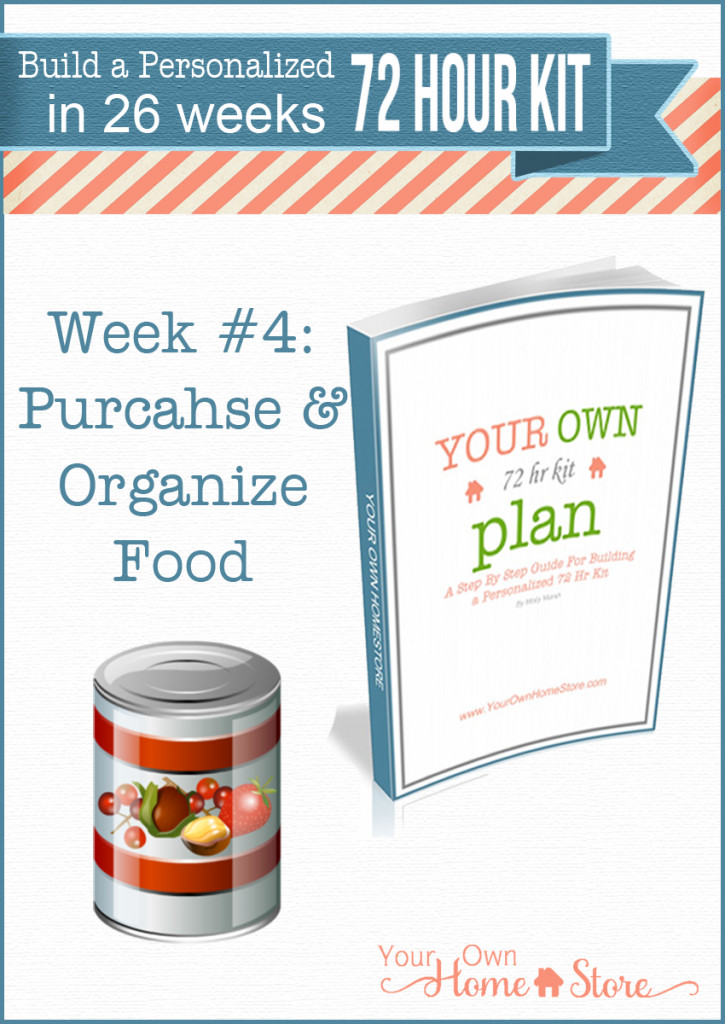 Week #4 in a step by step 72 hour kit series.  Makes building a robust, personalized 72 hour kit affordable and do-able!