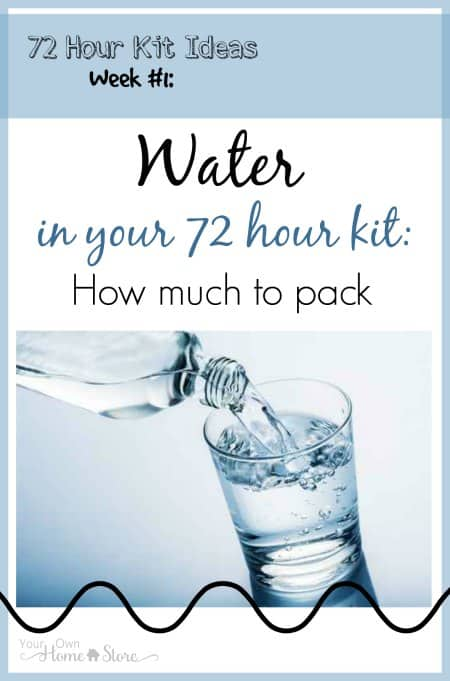 Water is HEAVY! It is impossible to carry 3 gallons of water in a 72 hour kit. Come read what the solution is.