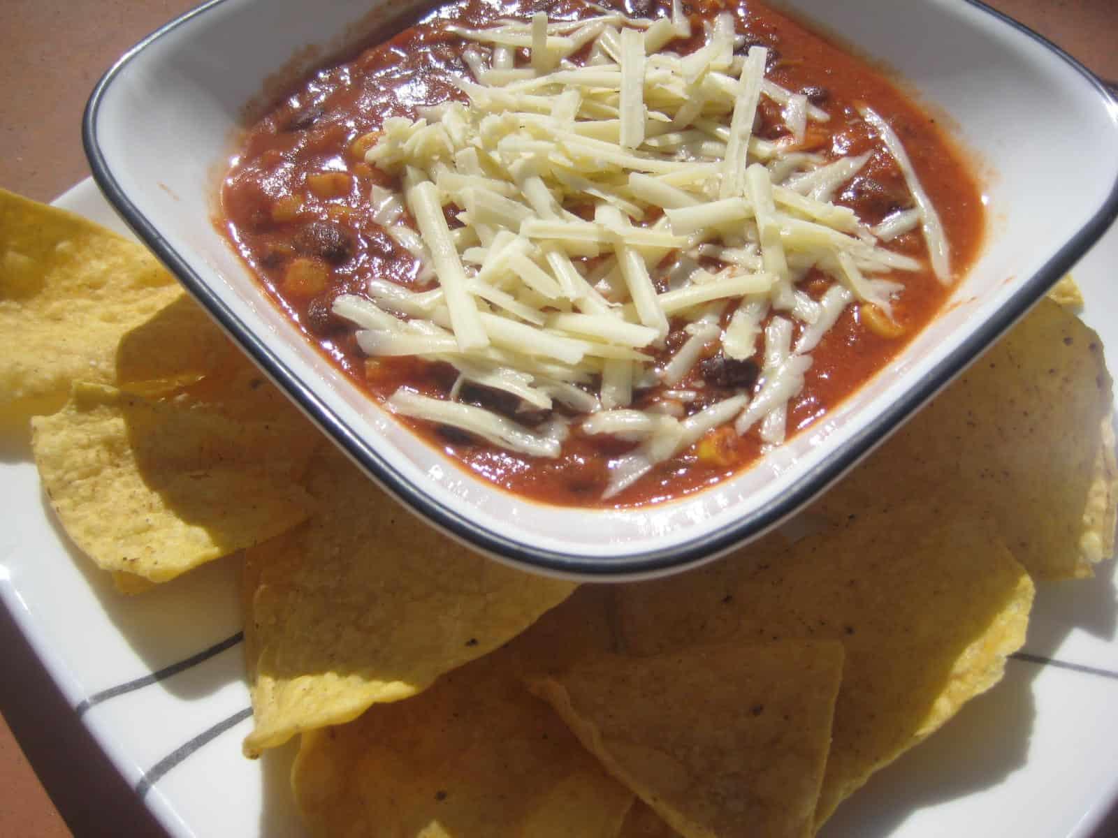 5 min Creamy Chicken Enchilada Soup