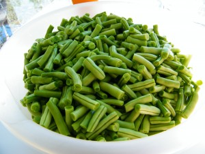 fresh cut green beans for canning