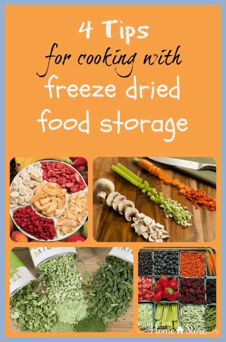 Freeze dried foods are a very smart type of food for long term storage.  And they are easy to use.  These four tips will get you started.
