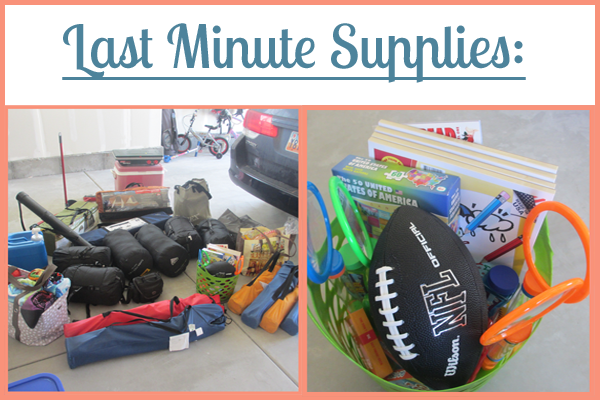 Last Minute Supplies: Part of the Ultimate Family Camping Packing List With Printables from Simple Family Preparedness: https://simplefamilypreparedness.com/family-camping-list/