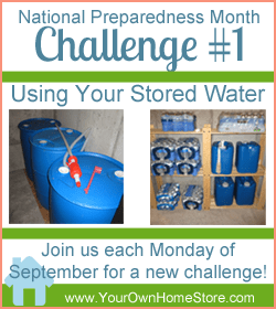 National Preparedness Month Week #1:  Water Is The First Step