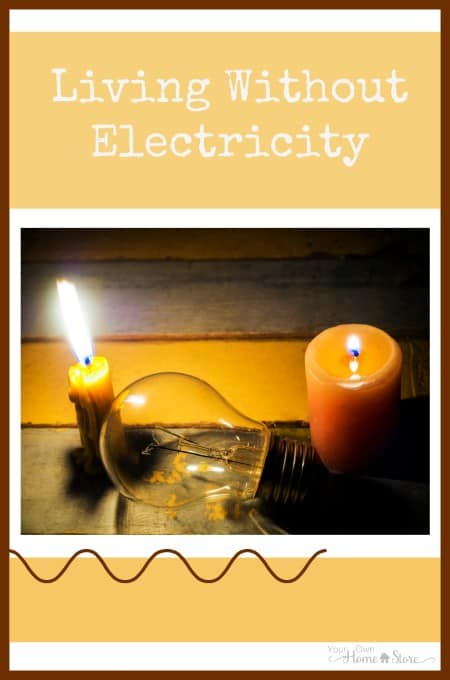One everyday mom's experience living without electricity for a few days.