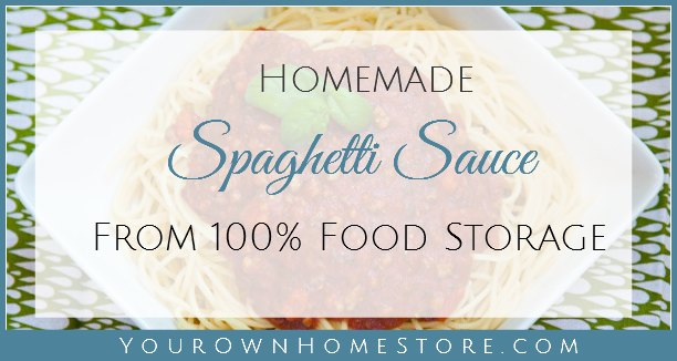 Food storage recipe - Homemade spaghetti sauce | shelf stable recipe