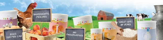 since thrive foods have a long shelf life they work very well as food ...