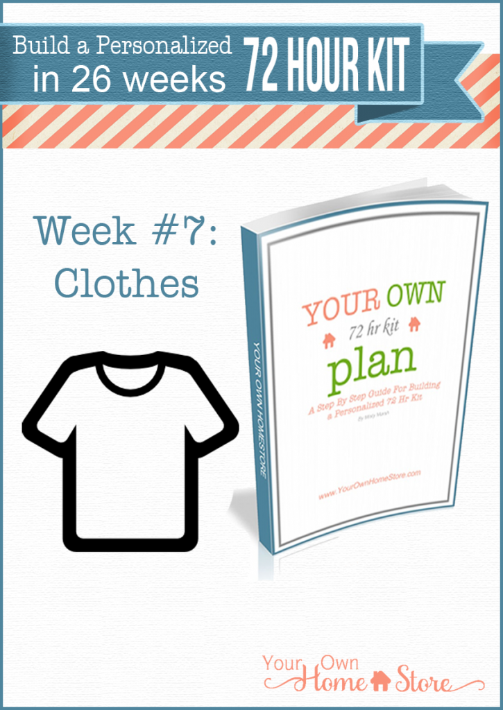 Week #7 in a step by step 72 hour kit series. Makes building a robust, personalized 72 hour kit affordable and do-able!