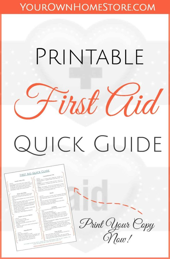 Lucrative image in printable first aid guide