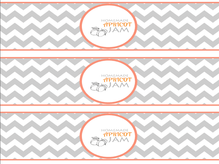Apricot Wrap Around Labels