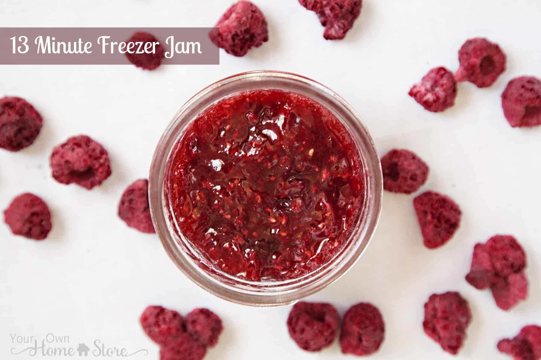 13 Minute Freezer Jam and Printable Labels