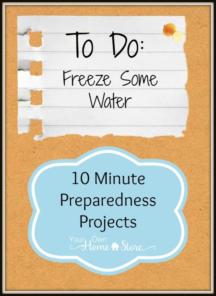 10 minute preparedness project: Freeze Water http://simplefamilypreparedness.com/?p=8310