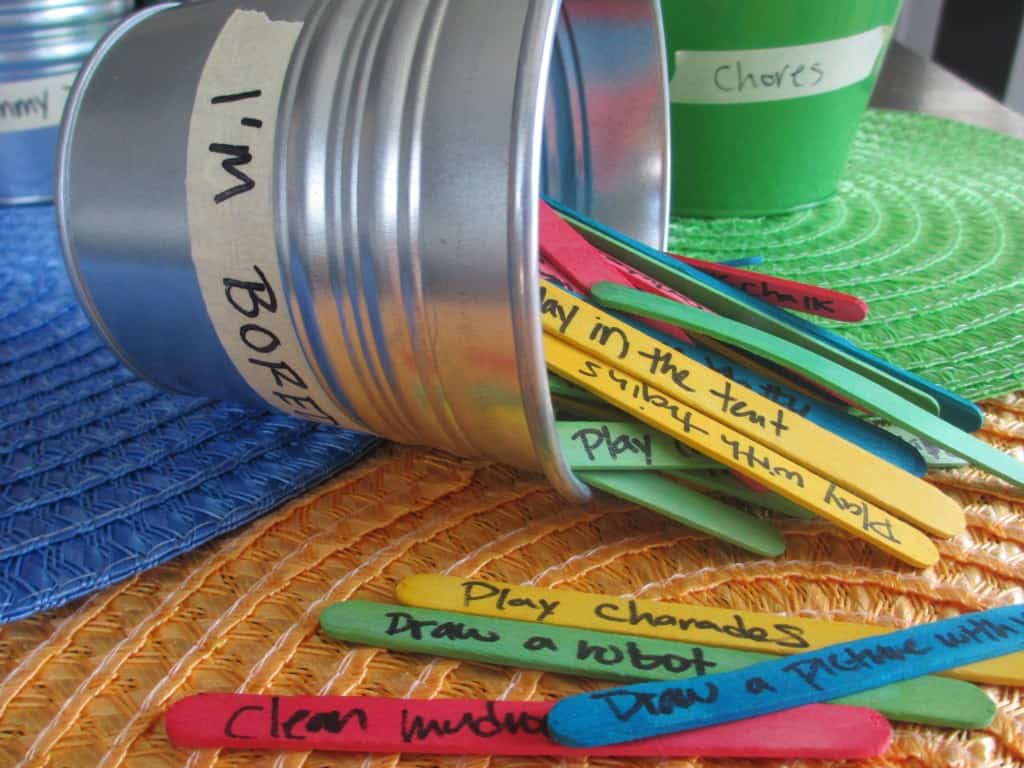 Bored Bucket ideas that kids can do by themselves