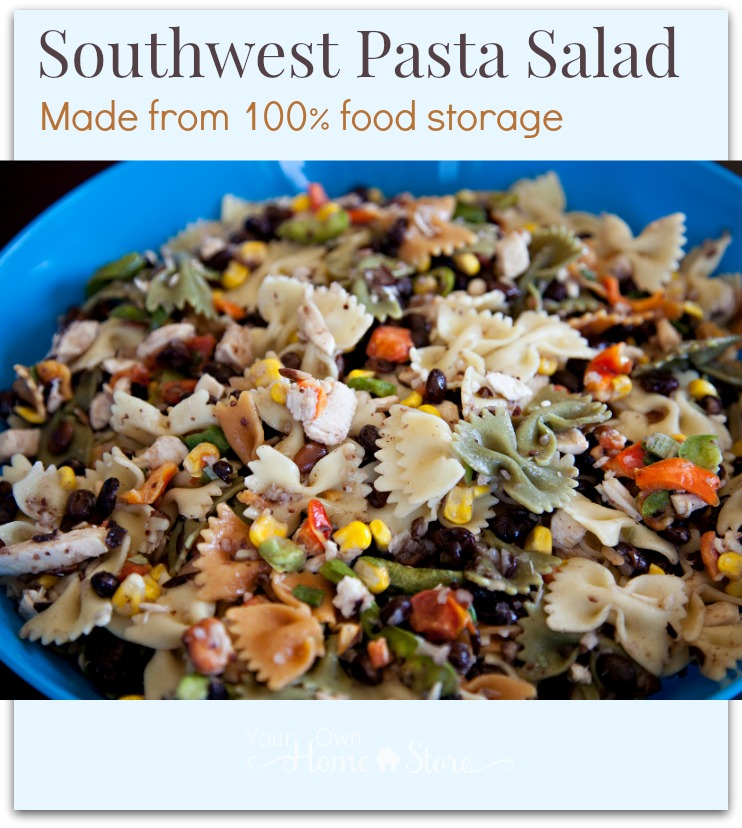 Click for a recipe that allows you to make this delicious pasta salad anytime...even if you can't get to the store. https://simplefamilypreparedness.com/?p=8619