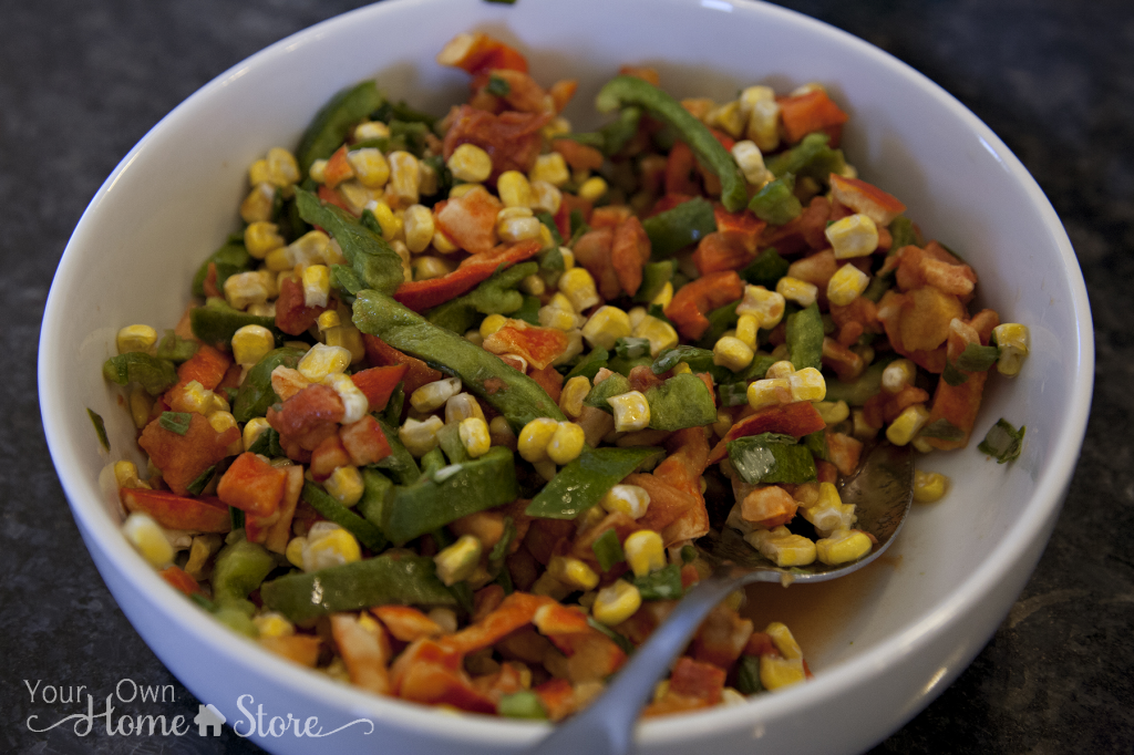 Southwest Pasta Salad Veggies