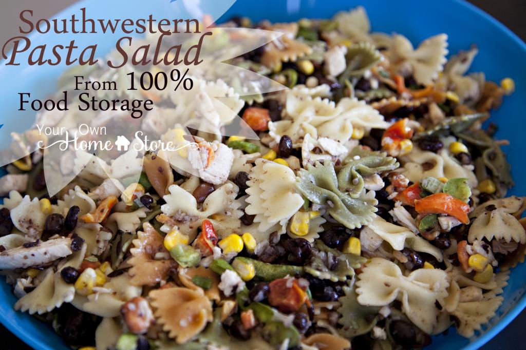 Southwestern Pasta Salad From Food Storage