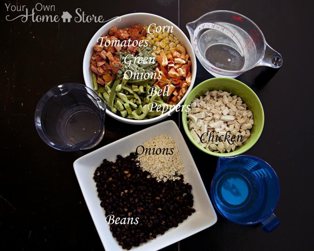 Southwestern Pasta Salad Ingredients