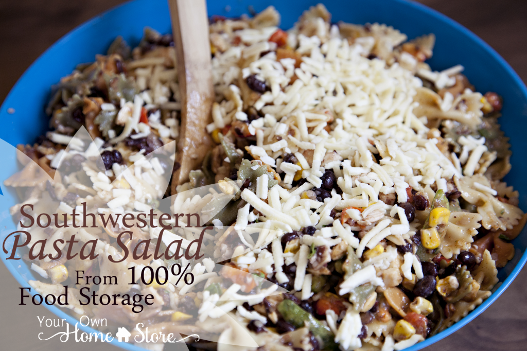 Southwestern Pasta Salad Made With Food Storage