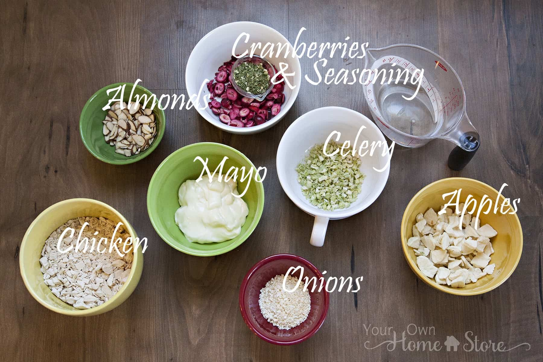 Quick and Easy Chicken Salad Ingredients from Simple Family Preparedness https://simplefamilypreparedness.com/chicken-salad/