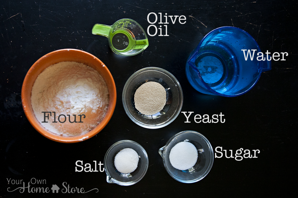 Homemade Pita Bread Ingredients