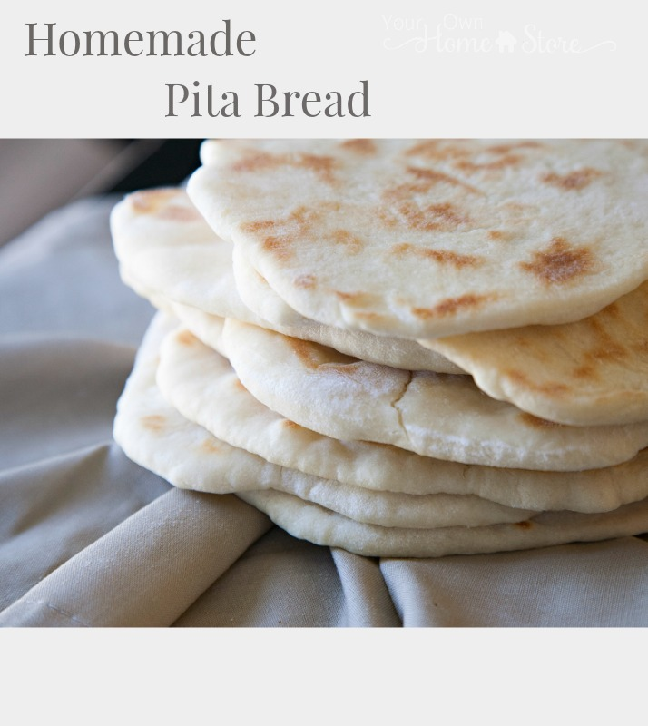 Homemade Pita Bread from Your Own Home Store. Simple and Quick. You can't mess this u p! https://simplefamilypreparedness.com/?p=8988