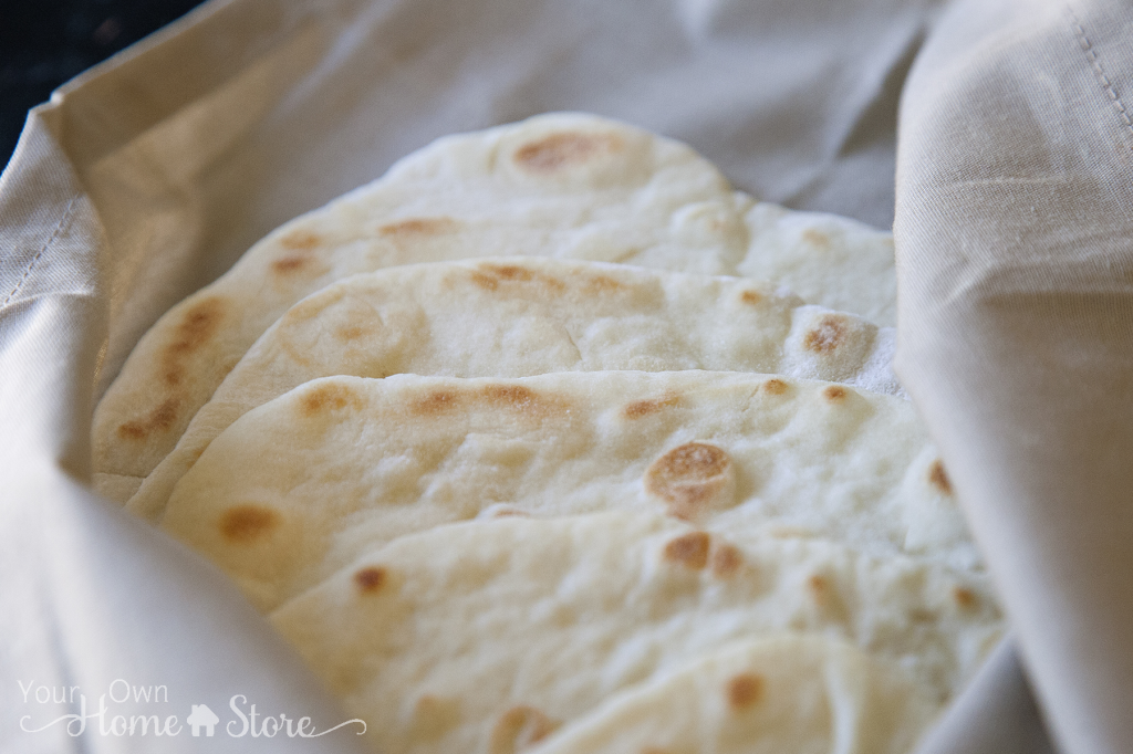 Soft Homemade Pita Bread
