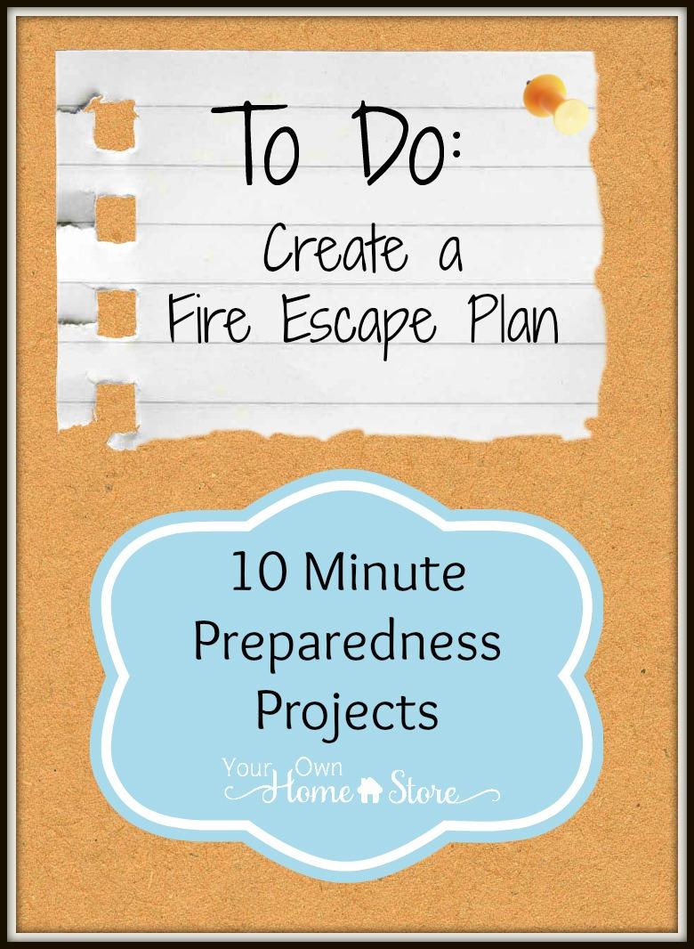 Fire Escape Plan 10 Min Preparedness Project Simple Family