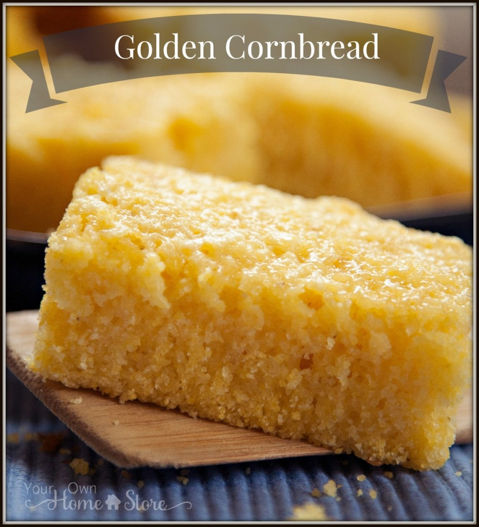 Make this golden cornbread in 5 mintues. https://simplefamilypreparedness.com/cornbread/