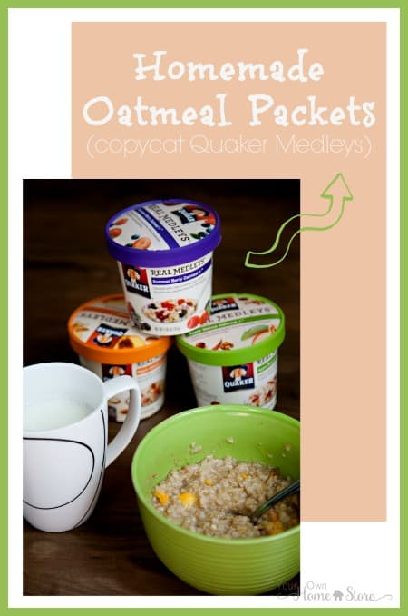 Make your own oatmeal breakfast packets at home. Save money and eat healthier!