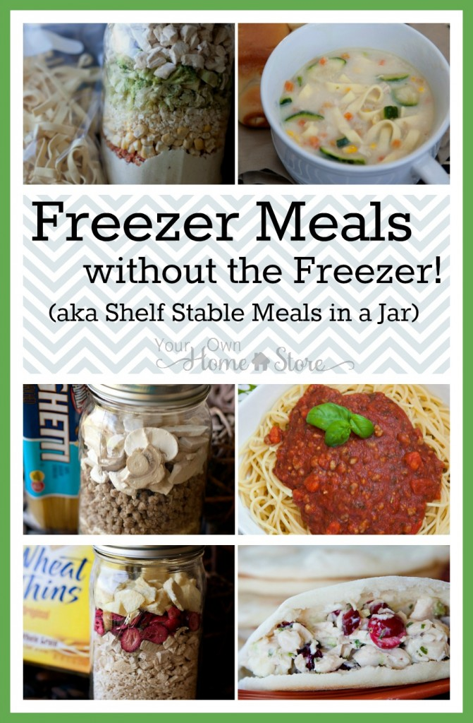 Meals in a jar have all the benefits of freezer meals without the time or space investment! Give these a try!