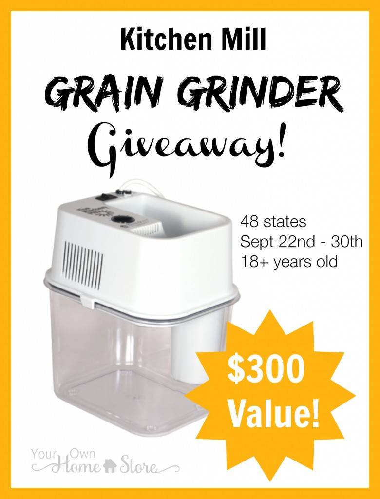 Enter to win a $300 grain mill from Simple Family Preparedness!  http://simplefamilypreparedness.com/grain-grinder-giveaway/