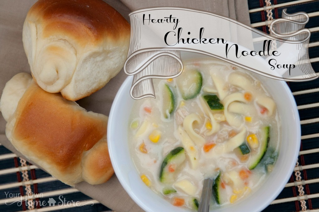Hearty Chicken Noodle Soup: https://simplefamilypreparedness.com/homemade-chicken-noodle-soup/
