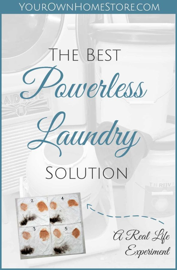 Powerless laundry | Doing laundry without power