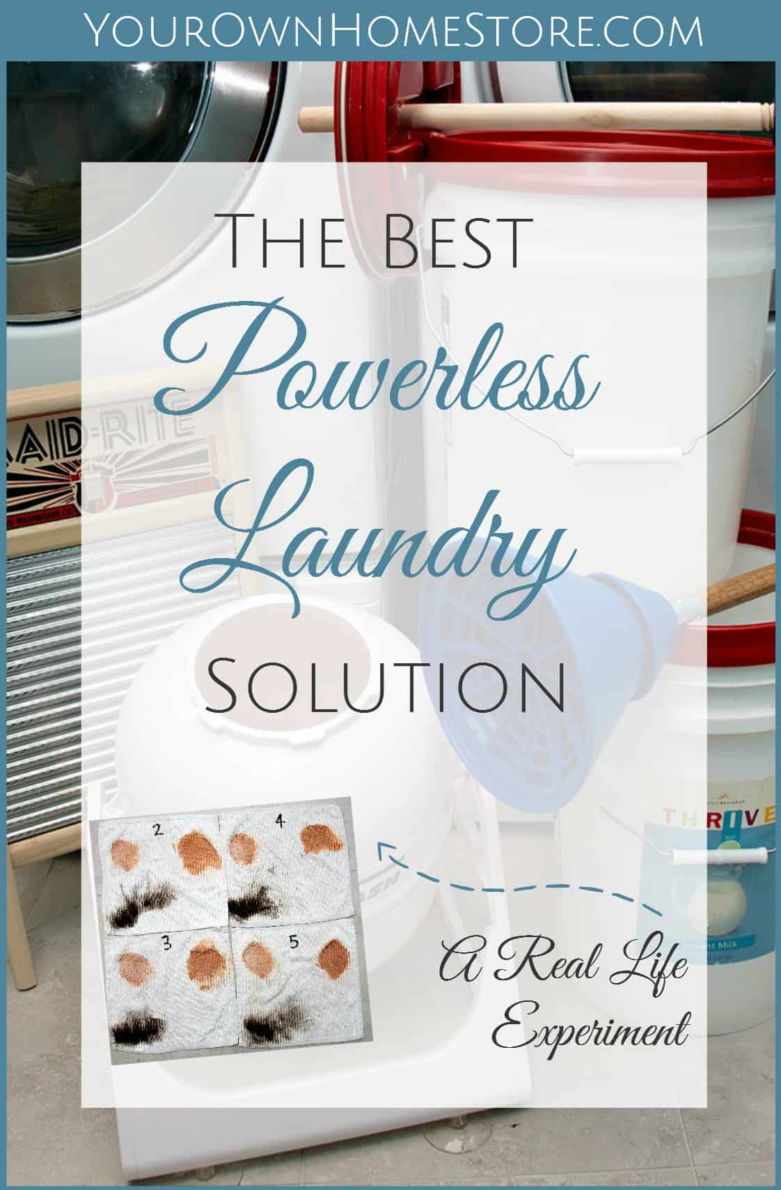 Powerless Laundry Solution | Doing laundry without power