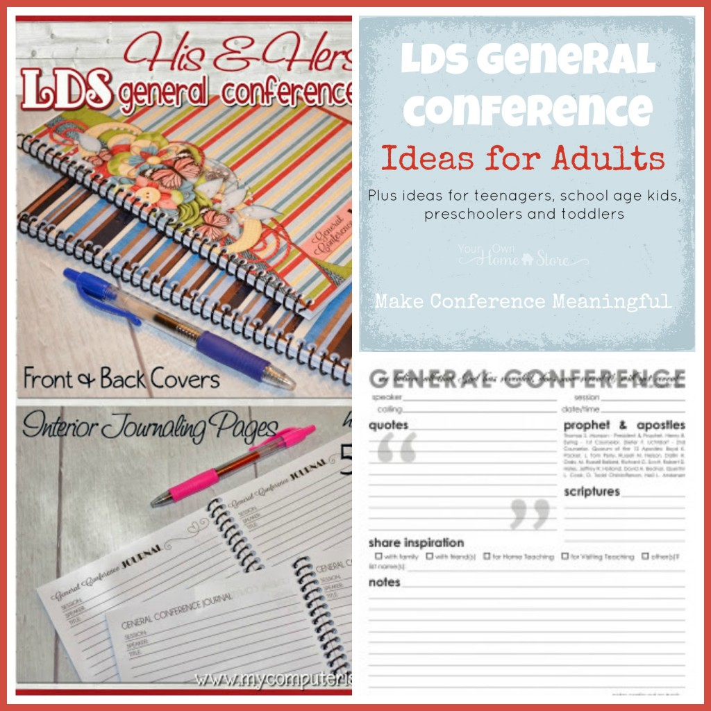 General Conference Activity ideas for adults, plus the Ultimate list of Ideas for making General Conference Meaningful for all ages: https://simplefamilypreparedness.com/?p=9461
