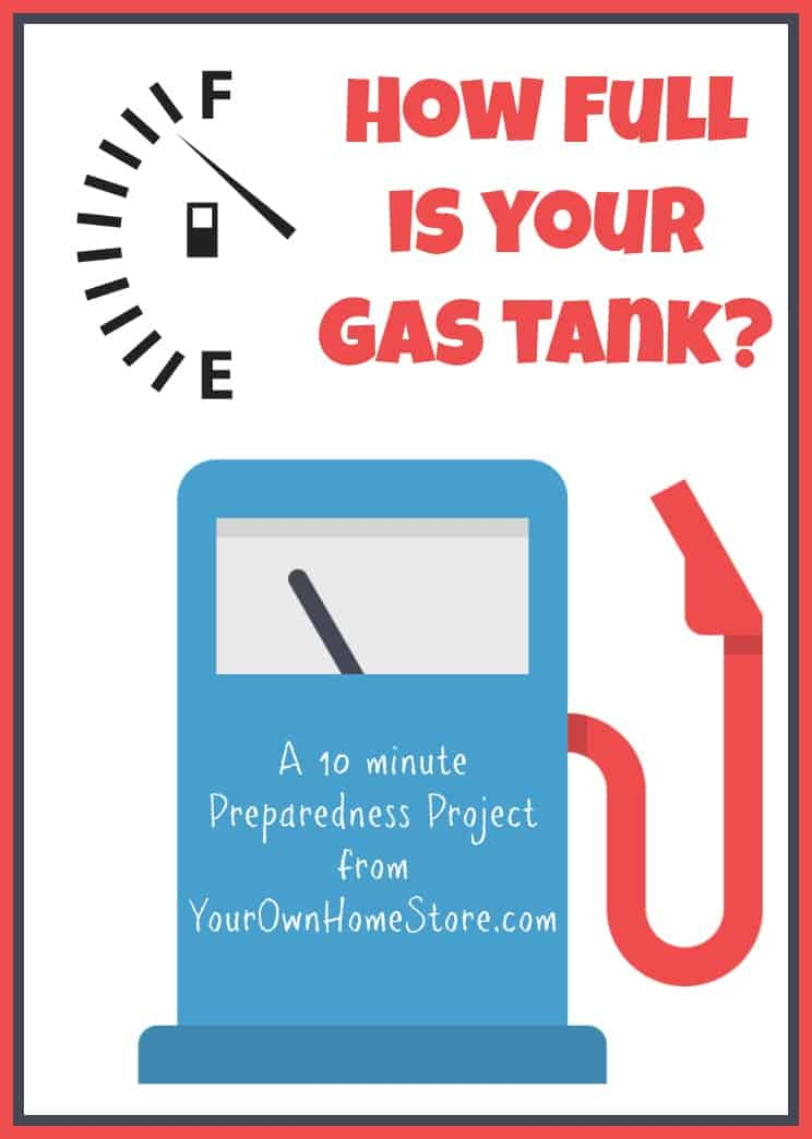 Is your gas tank half full?  A 10 min prep project