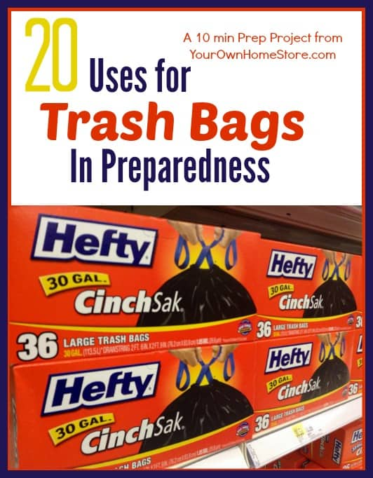 10 min project:  20 Reasons to add trash bags to your supplies
