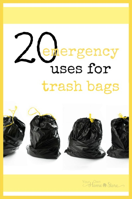 Trash bags are pretty useful and versatile items.  Here are 20 reasons to have some in your e-prep supplies.