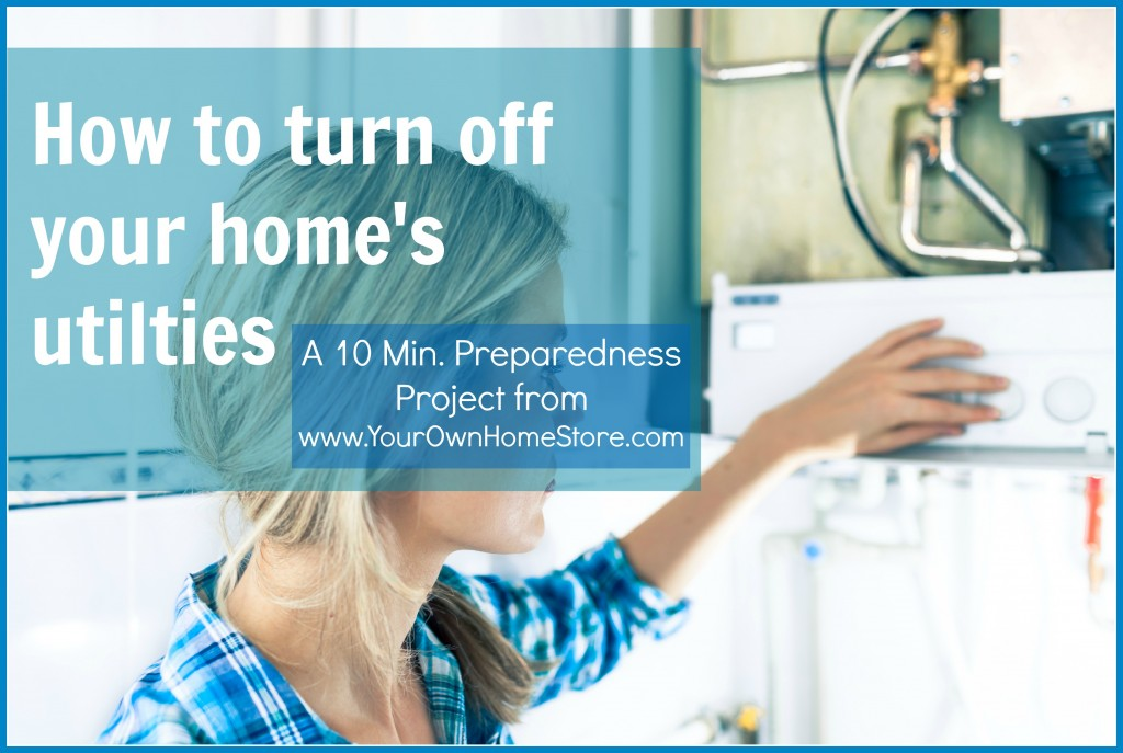It won't take more than 10 minutes to learn how to turn off your utilties.  Make sure every adult in your household knows how!  https://simplefamilypreparedness.com/turn-off-utilities/