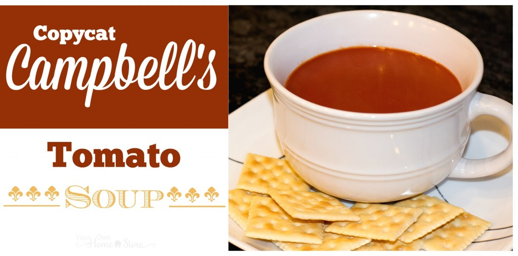 5 Ingredient Copycat Campbell's Tomato Soup Recipe. This is SPOT-ON and has no preservatives! https://simplefamilypreparedness.com/copycat-cambells-tomato-soup/