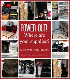 Power Out Supplies Together