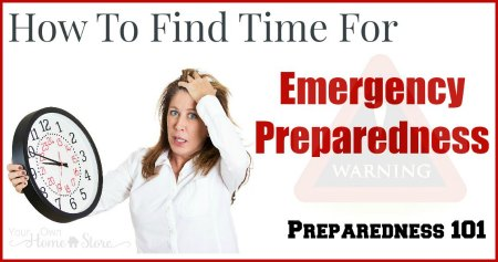 Trying to find time for emergency preparedness? It is easy to procrastinate, but some day you may wish you had made the time now. Check out these tips! http://simplefamilypreparedness.com/find-time-for-e-prep/