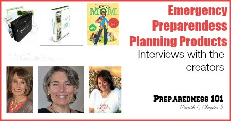 Save yourself time by using these products to solidify your emergency preparedness plan.  Read interviews with the creators to make an infomed decision about what is best for your family.